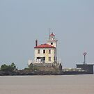 Fairport Harbor West Breakwater Lighthouse by Bob Hardy