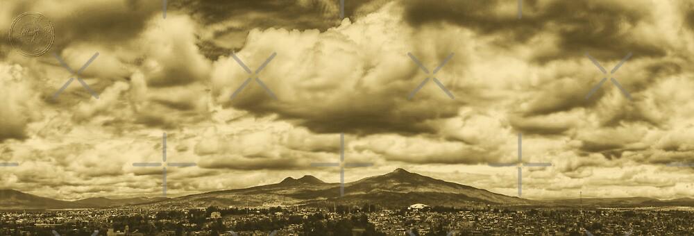 ©HCS Rain Season Cloudscape And Hill In Monochrome by OmarHernandez