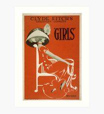 Vintage poster - Girls Art Print