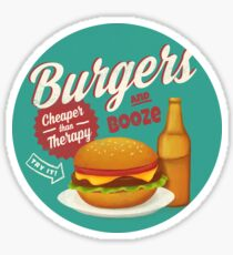 Burgers and Booze Sticker