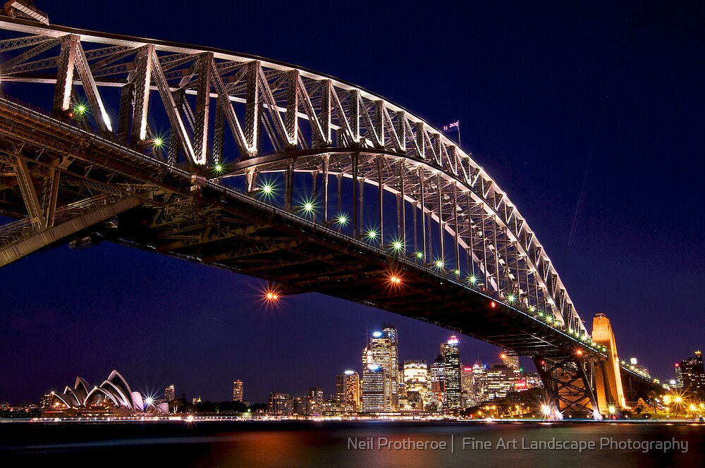 Nightfall at Harbour Bridge  by Images Abound | Neil Protheroe