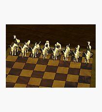 Chess Animals Photographic Print