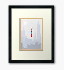 Superman minimal design Framed Print