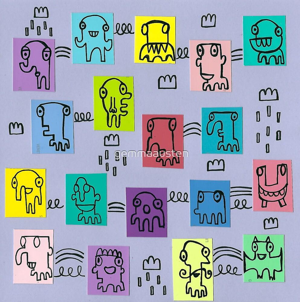 Pastel characters. by gemmaausten