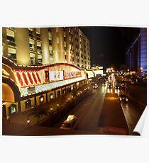 Vegas Street at Night Poster