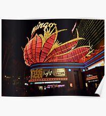 Las Vegas, The Flamingo at night. Poster