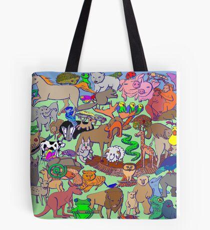 World Wildlife - Coloured Tote Bag
