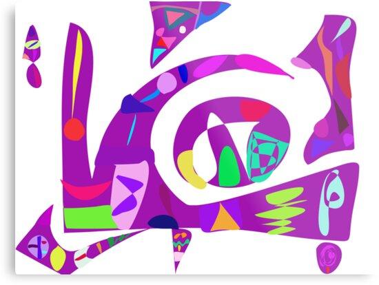 Irregular Forms Purple by masabo