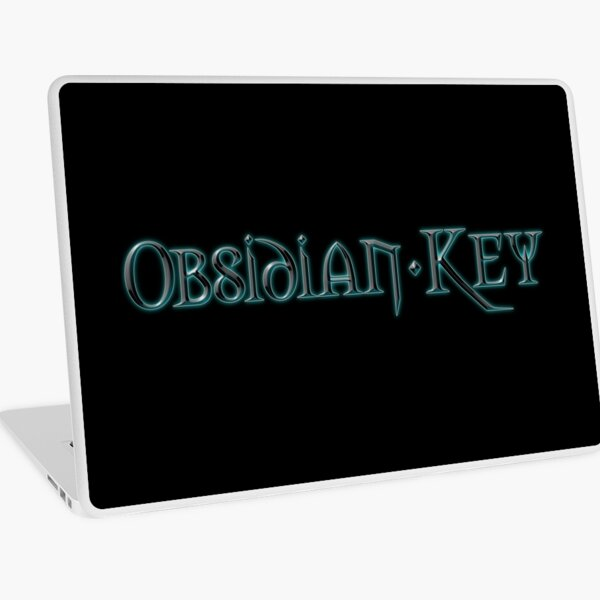Obsidian Key - The Dark Side - Progressive Rock Metal Music - Official Band Logo Laptop Skin