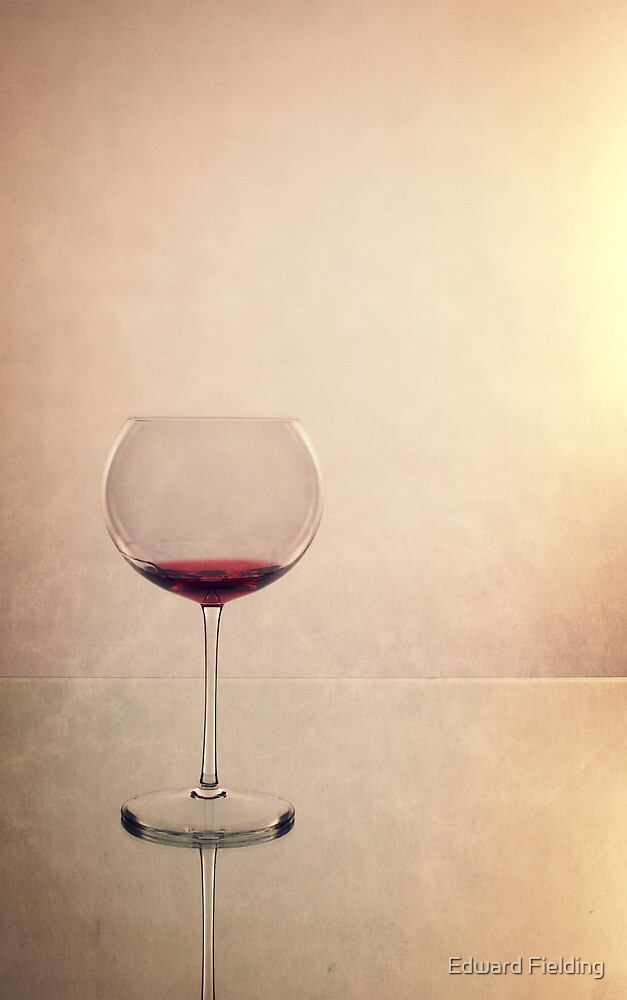 Glass of red wine by Edward Fielding