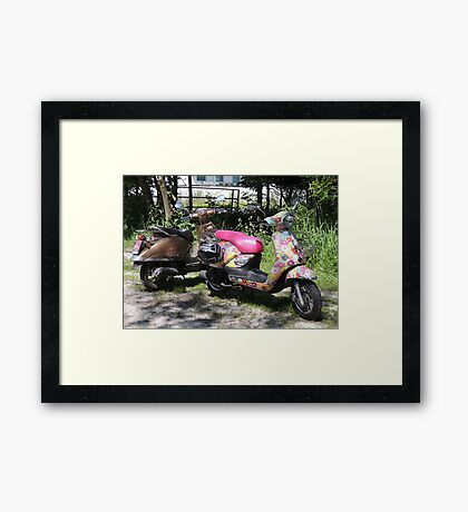 The Hippy and The Rocker Framed Print