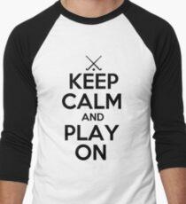 Keep Calm and Play On - Field Hockey Men's Baseball ¾ T-Shirt
