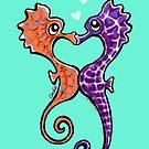 Seahorse Bubble Kisses by offleashart