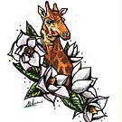 Giraffe Tattoo by Molly Lombard
