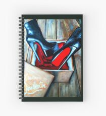 Christian Louboutin Red Bottom Boot in a Box Spiral Notebook