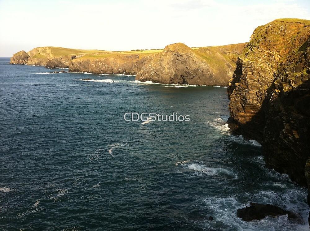 Trevone Bay Cliffs by CDGStudios