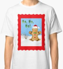 Happy Gingerbread Man in Snow Classic T-Shirt