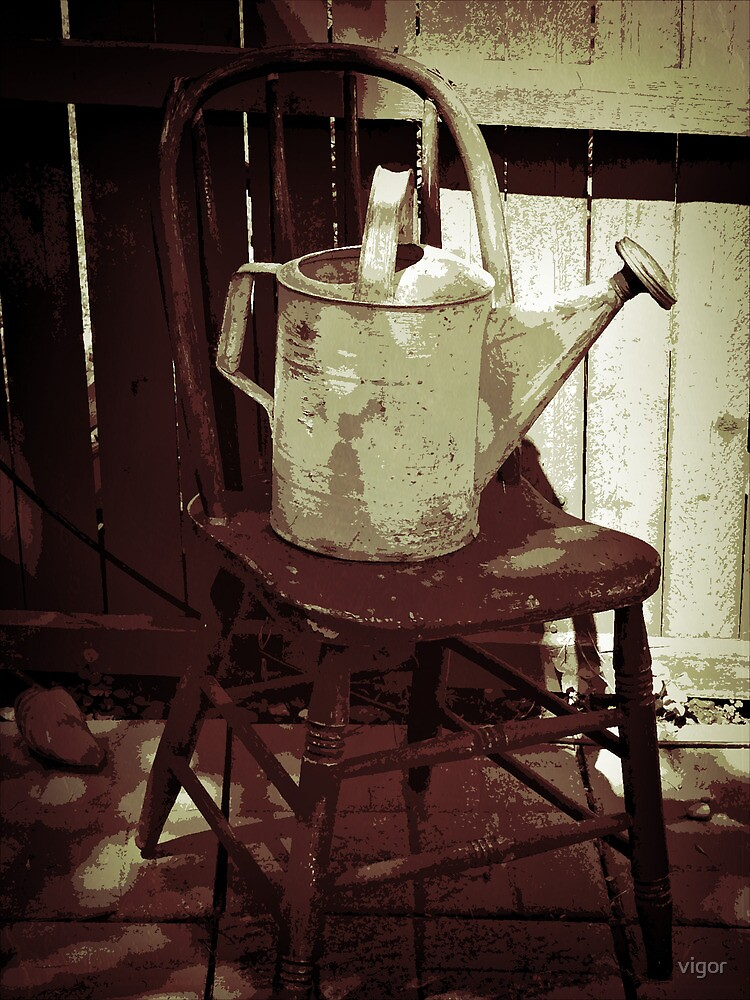 The Watering Can on a Chair by vigor