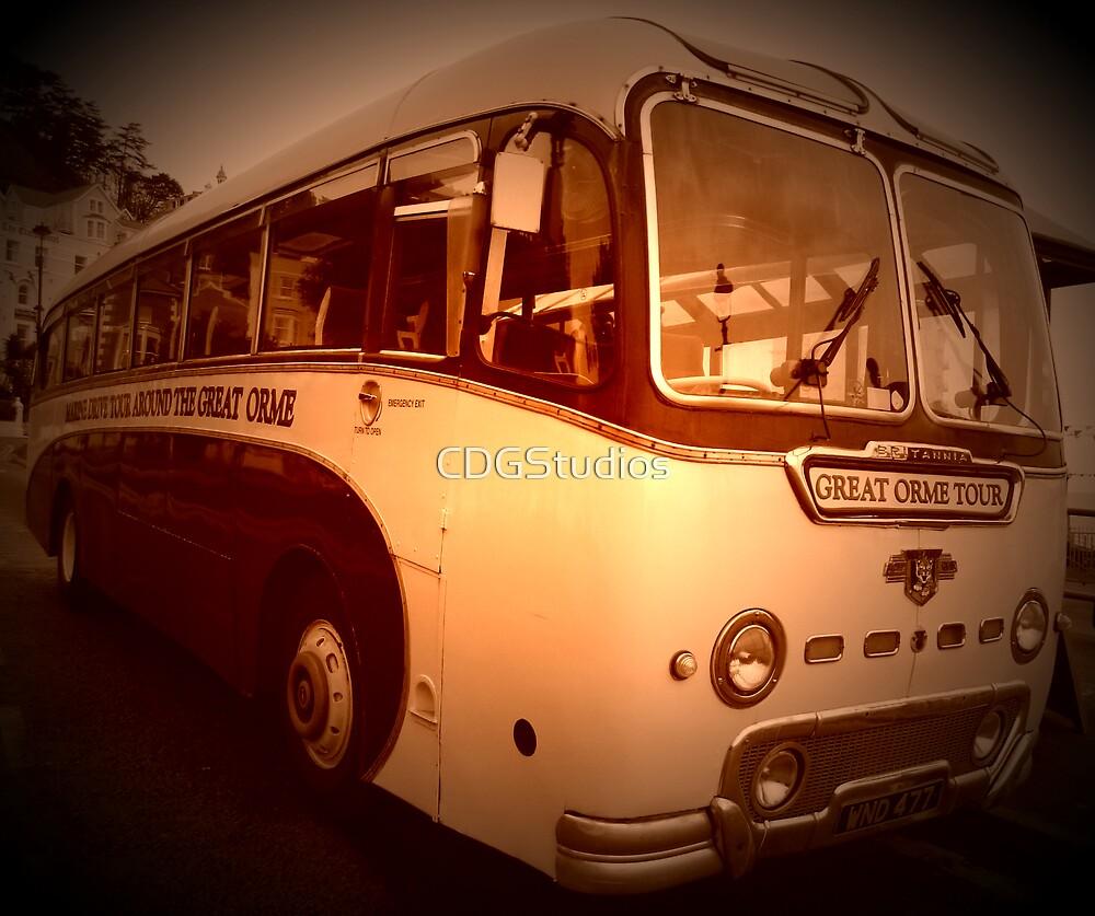 Llandudno Tour Bus Vintage by CDGStudios