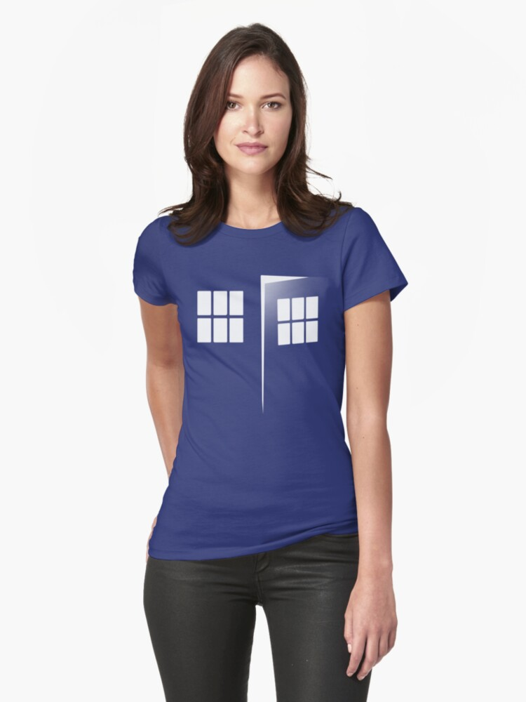 Police Call Box Womens T-Shirt Front