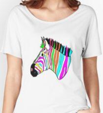 Funky Zebra Women's Relaxed Fit T-Shirt