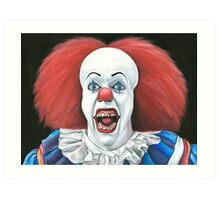 Pennywise the clown - Oil Painting Art Print