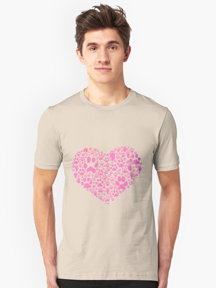 Paws of the Heart Unisex T-Shirt Front