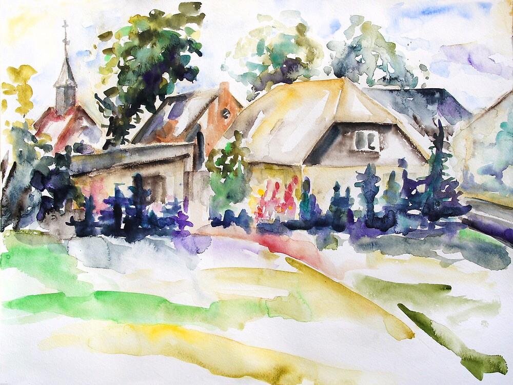 Midsummer In The Mecklenburg Village Nossentin, Germany by Barbara Pommerenke