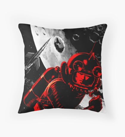 Reds in Space Throw Pillow