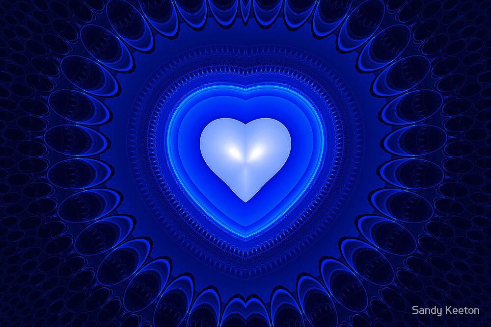 Blue Heart by Sandy Keeton