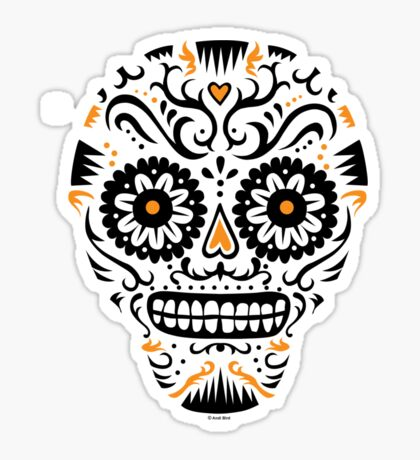 Sugar Skull SF -  on white Sticker