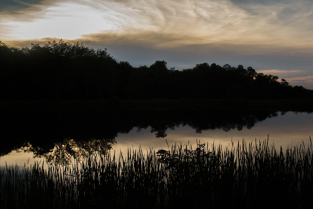 Sunset over a Lake by Dominic Perry