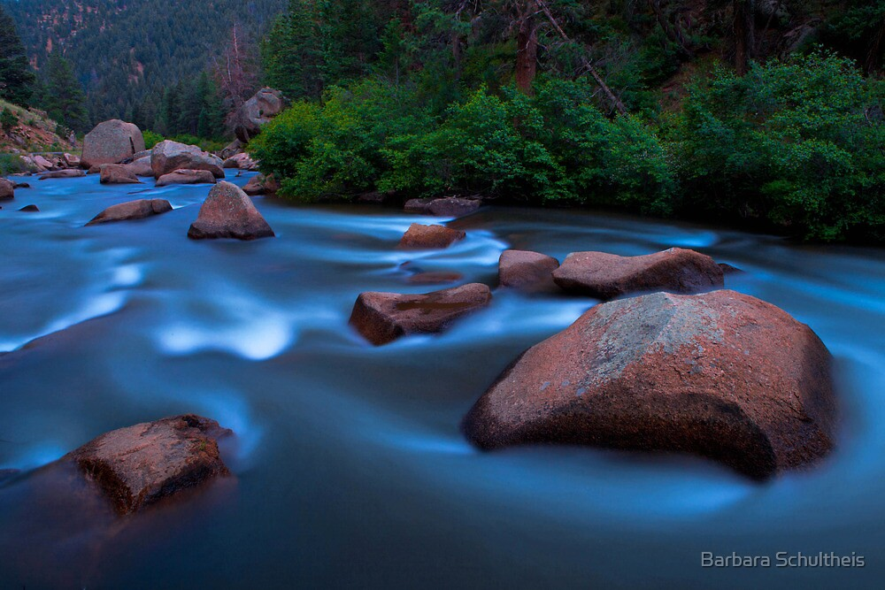River at Dusk by Barbara Schultheis