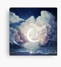 upon the sky-foam. Canvas Print
