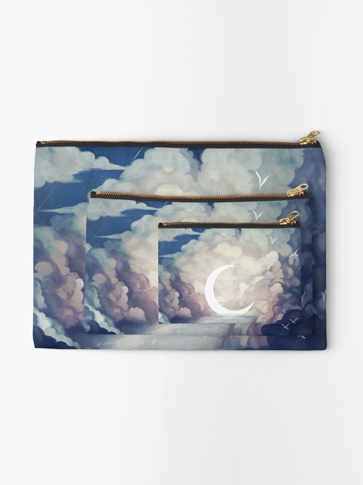 Alternate view of upon the sky-foam. Zipper Pouch