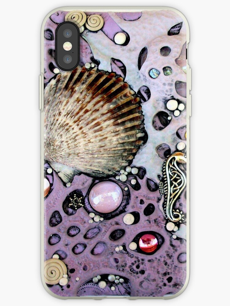 Lilac Seafoam Shell iphone ipod Cover by MandarinMoon