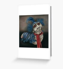 Labyrinth Worm - Oil Painting  Greeting Card
