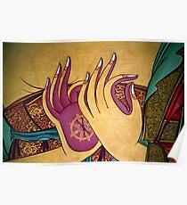mudra. tibetan wall painting, india Poster