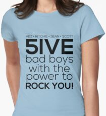 5ive Bad Boys with the Power to ROCK YOU! (black version) T-Shirt