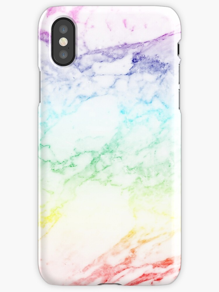 """""""RAINBOW MARBLE"""" iPhone Cases & Covers by sofiedahlberg ..."""