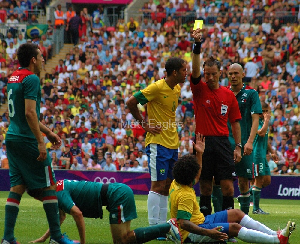 Brazil v Mexico- Olympic Final by Matt Eagles