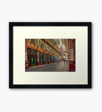 Leadenhall Market: London. Framed Print