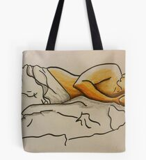 watching tv from bed Tote Bag