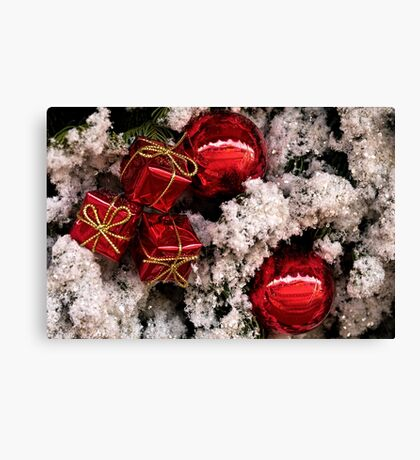 Christmas red and white Canvas Print