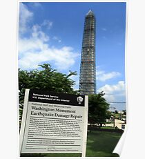 Washington Monument Earthquake Damage Repair Poster