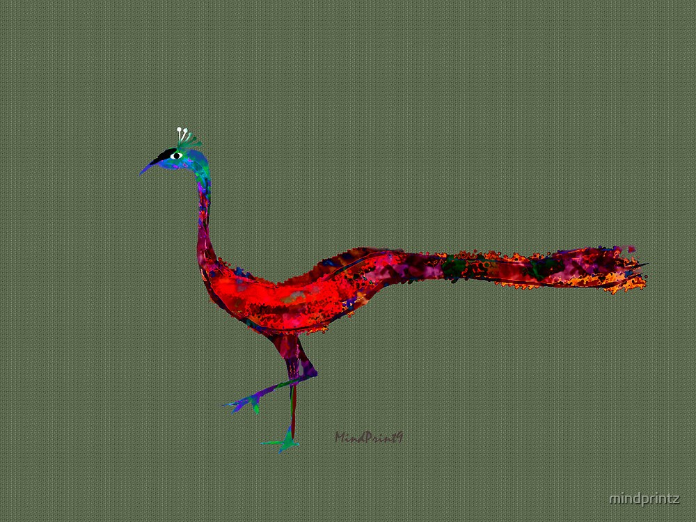 Red Peacock by mindprintz