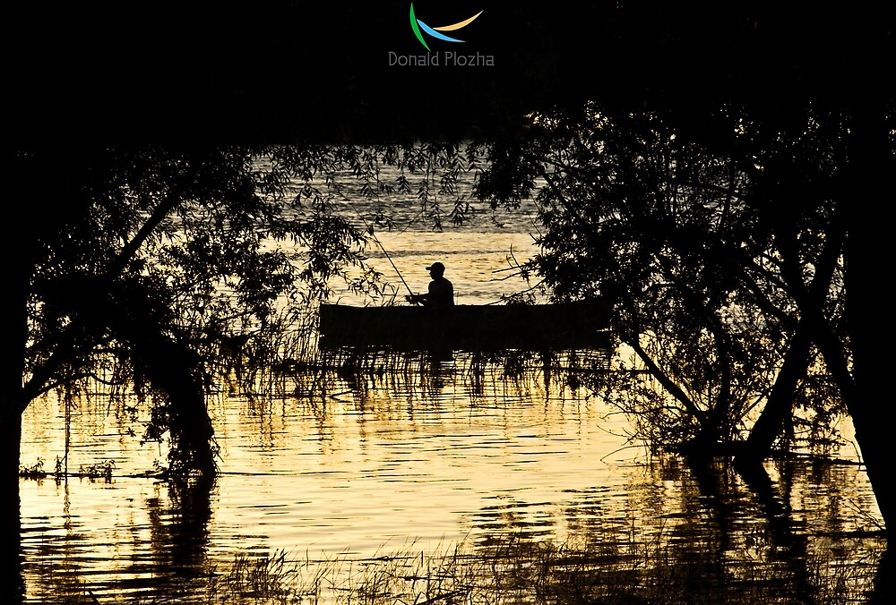 Fisherman silhouette by Donald Plozha
