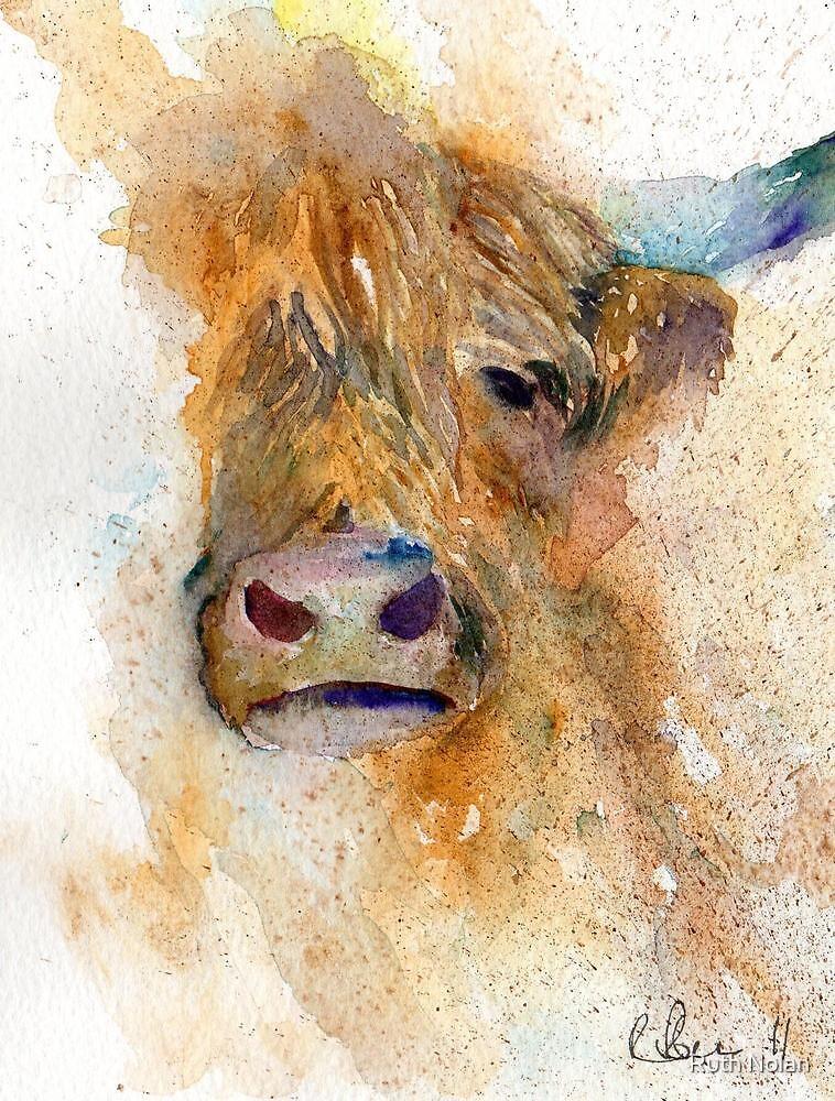 """Watercolour Cow"" by Ruth Nolan"