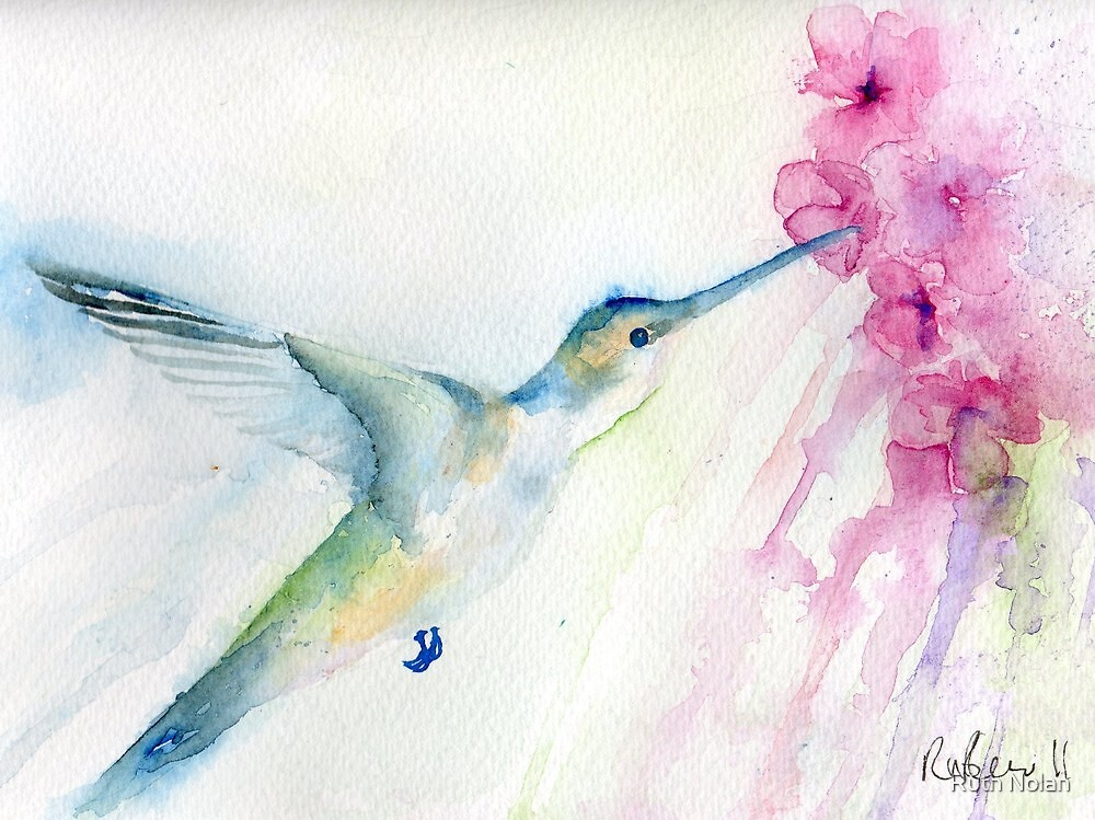Blue hummingbird by Ruth Nolan