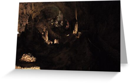 Big Room at Carlsbad Caverns  by Cassandra Scarborough